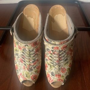 No.6 Store Open Toe Weave Clog Floral